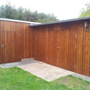 Holz-Beplankung-Tischlerei-Gartenhaus